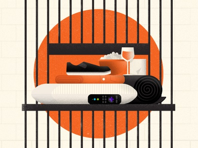 "OITNB ""Voluntary Sentence""  prison roku netflix orange is the new black illustration"
