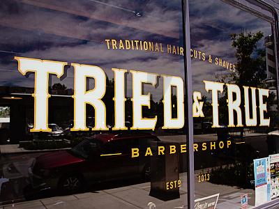 TRIED & TRUE Barbershop Branding local shop denver branding logo type barbarshop