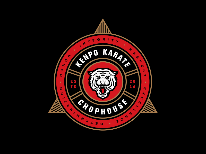 Chophouse Logo orlando illustration karate mascot tiger logo branding
