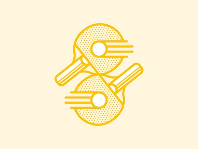 Ping Pong Competition paddle sports icon illustration ping pong