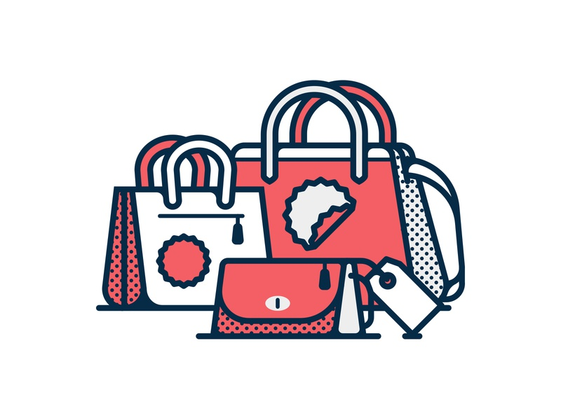 Coach Bags Illustration fast company lifestyle bags editorial icon illustration