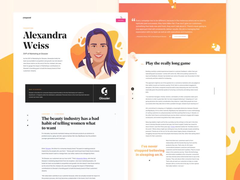 Data & The Modern CMO marketing illustration site design brand editorial data