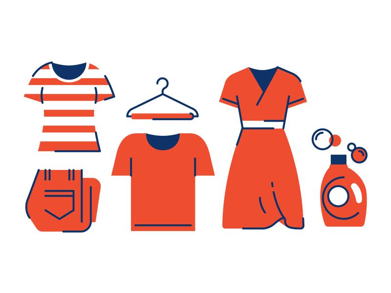Tide icon set variation 1 site design clothes illustration icons laundry