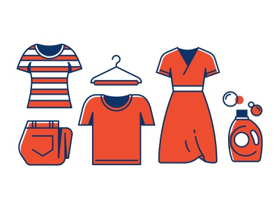 Tide icon set variation 2 design clothes illustrations icons