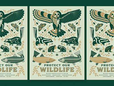 """Protect our Wildlife"" AfterHoursATX 2019 Poster"