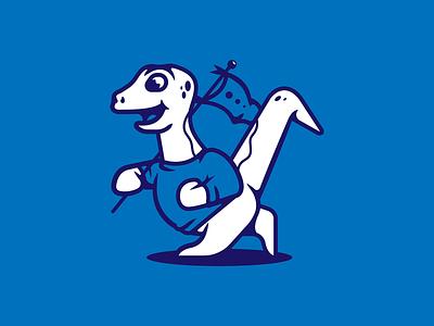 Nessie Mascot data tech dinosaur team mascot