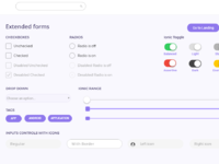 Uikitdashboard   extended forms