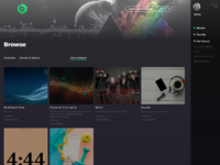 Spotifytemplate dashboard browse