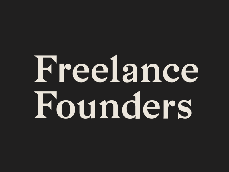 Freelance Founders typogaphy logo brand design