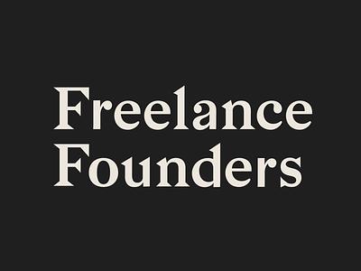 Freelance Founders typogaphy logo brand design