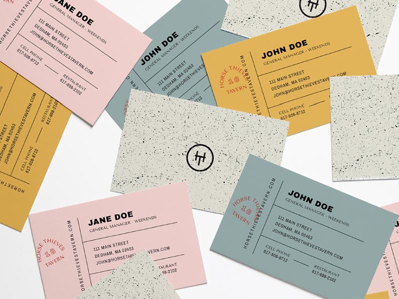 Biz Cards typography