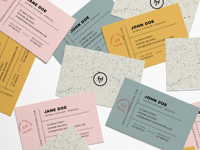 Biz Cards typography