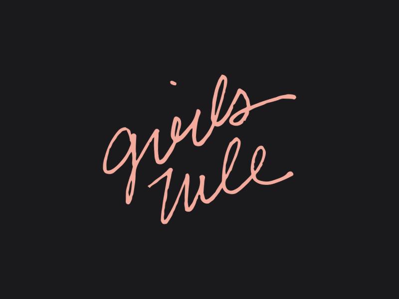 Girls Rule – Everyday handlettering typography
