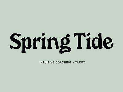 Spring Tide ✨ typography branding
