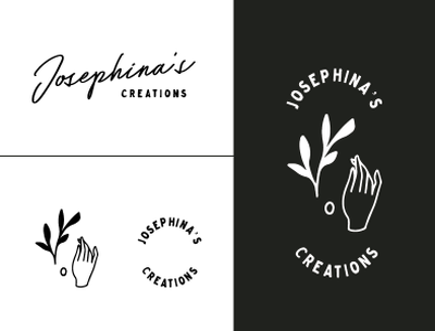 Josephina's Creations Logo Round 1 illustration branding logo