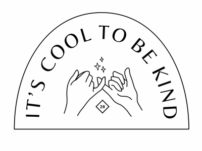 It's Cool to be Kind illustration branding