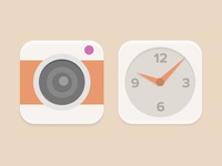 Camera And Clock Icons