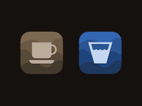 Coffee & Water App Icons
