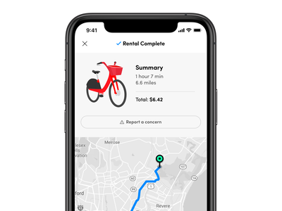 Bike-Share Rental Complete bicycle confirmation complete receipt shared scooter rental ebike bikeshare bike