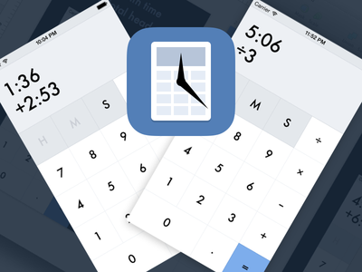Time Calculator is Headed to the App Store time calculator blue ios iphone clean app time calculator