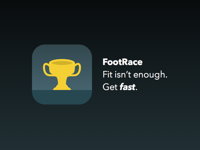 Trophy Icon icon trophy blue gold yellow iphone ios app running track run