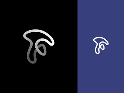 F Mark 3d blue curve mark logo f