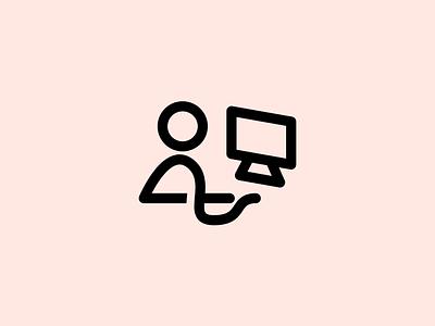 Stick figure, hard at work. personal logo stick figure strokes stroke red tan brand logo personal figure stick