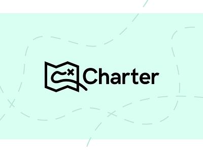 Charter Branding maps green branding map logo logo map charter