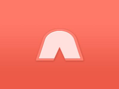 Logo red dribbble