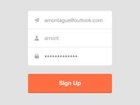 Sign Up Interface - Flat