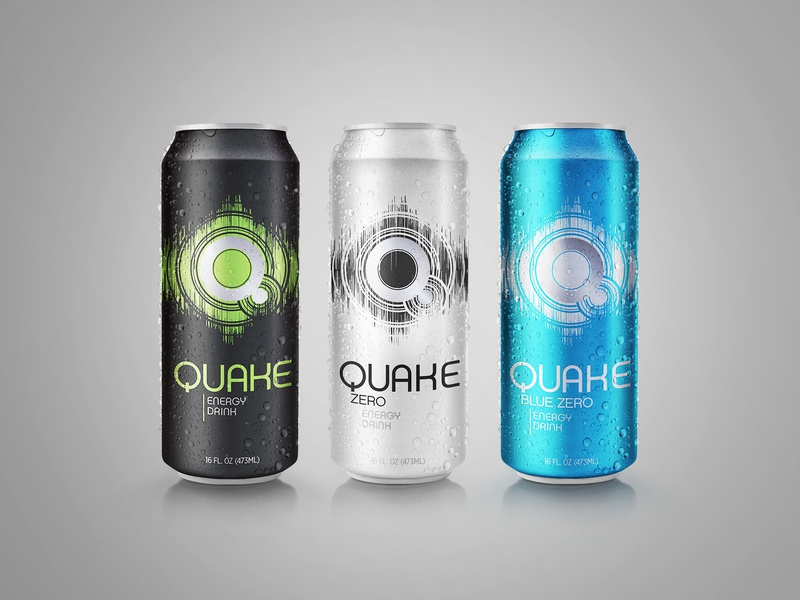 Quake Energy Drink Packaging