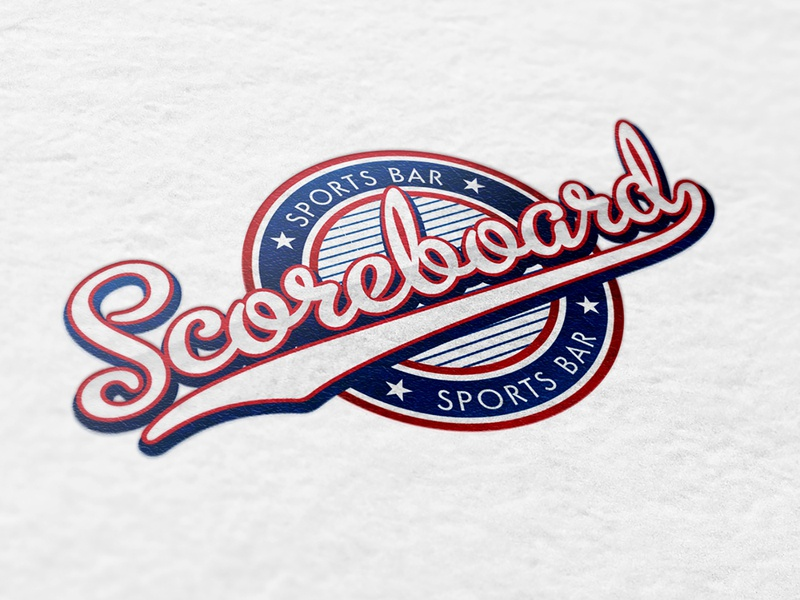 Scoreboard Bar and Grill logo concepts