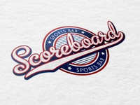 Scoreboard Bar and Grill logo concepts graphic design branding logo design