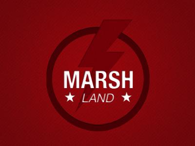 Marshland logo brand red