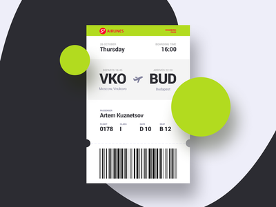 Daily UI #024 — Boarding Pass