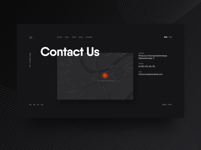 Daily UI #028 — Contact Us