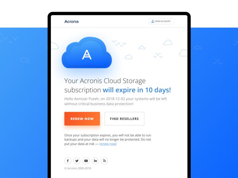 Acronis Email embacy email illustration design web