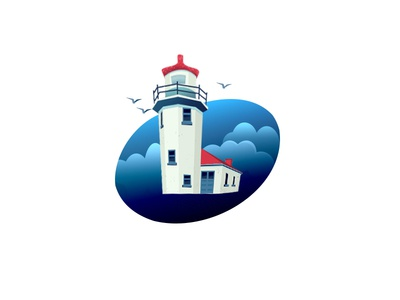 Lighthouse 2d illustration lighthouse