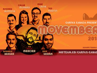 Movember Thumb poster promo vector graphic design illustration branding design boogie nights orange movember