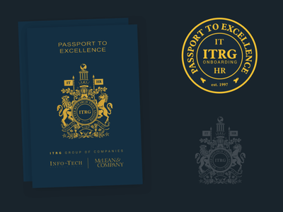 Passport To Excellence research information technology information passport logo vector illustration graphic design branding design