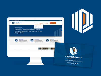 ManagePoint Website & Branding typography technology logo graphic design branding design website webdesign