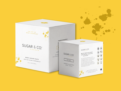 Sugar & Co. Canada Packaging & Branding skincare sugaring design icon logo vector illustration graphic design branding and identity branding design branding packaging
