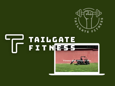 Tailgate Fitness Branding typography webdesign healthcare fitness icon logo vector illustration graphic design branding design