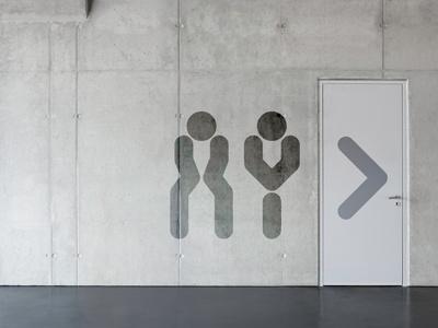 Restroom Signs pictograms signage design signs toilets restroom