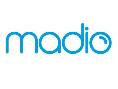 MADIO bubble blue design logotype typeface madio clean