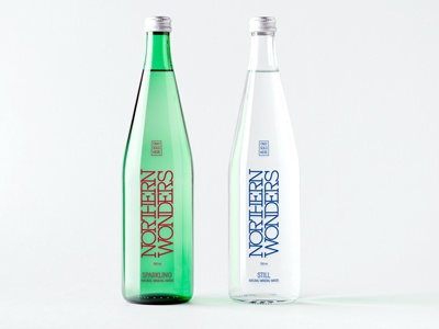 NORTHERN WONDERS Water Collection graphic packaging design still sparkling water northern wonders