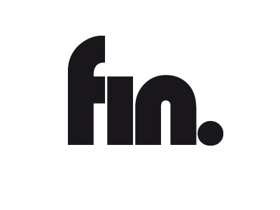 Fin (The End) graphic design goodbye 2017 design font typeface ending the end fin