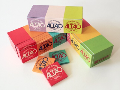 ALTAO (Full Collection) typeface logotype dark milk white chocolate coffee accompaniment colourful packaging design graphic design french chocolate altao