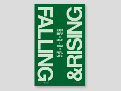 FALLING & RISING font typeface graphic design falling  rising poster