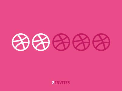 Dribbble Invites two balloon graphic design invitation